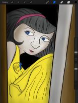 in the closet hiding